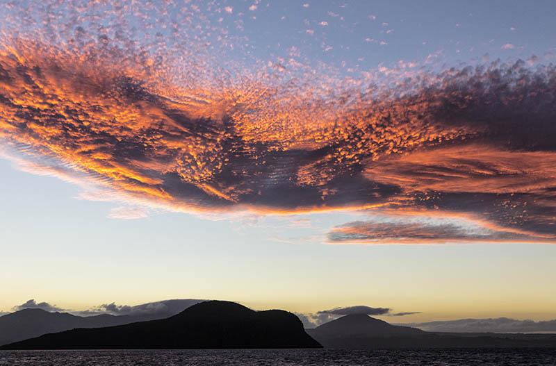 Sunset Lake Taupo NZ