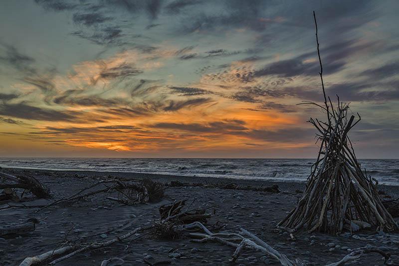 Sunset Hokitika S.I NZ