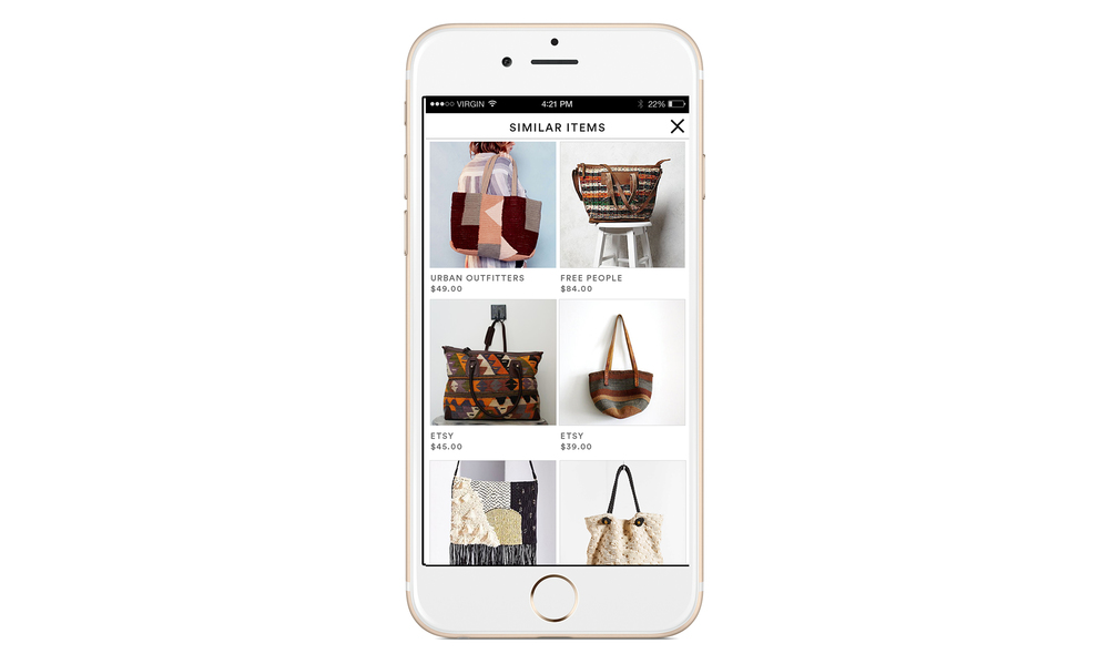 Upload - Visual Search Results