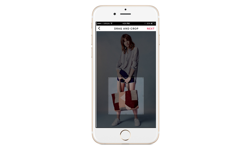 Upload - Visual Search, step 1