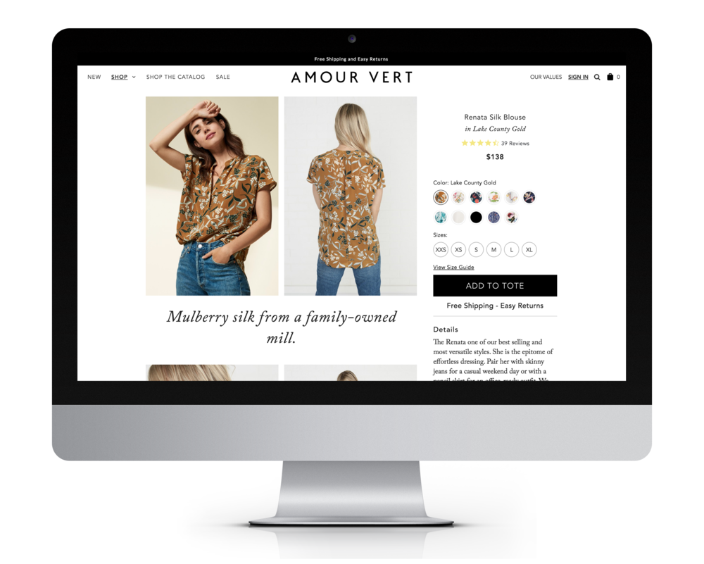 New Product Detail Page - Desktop