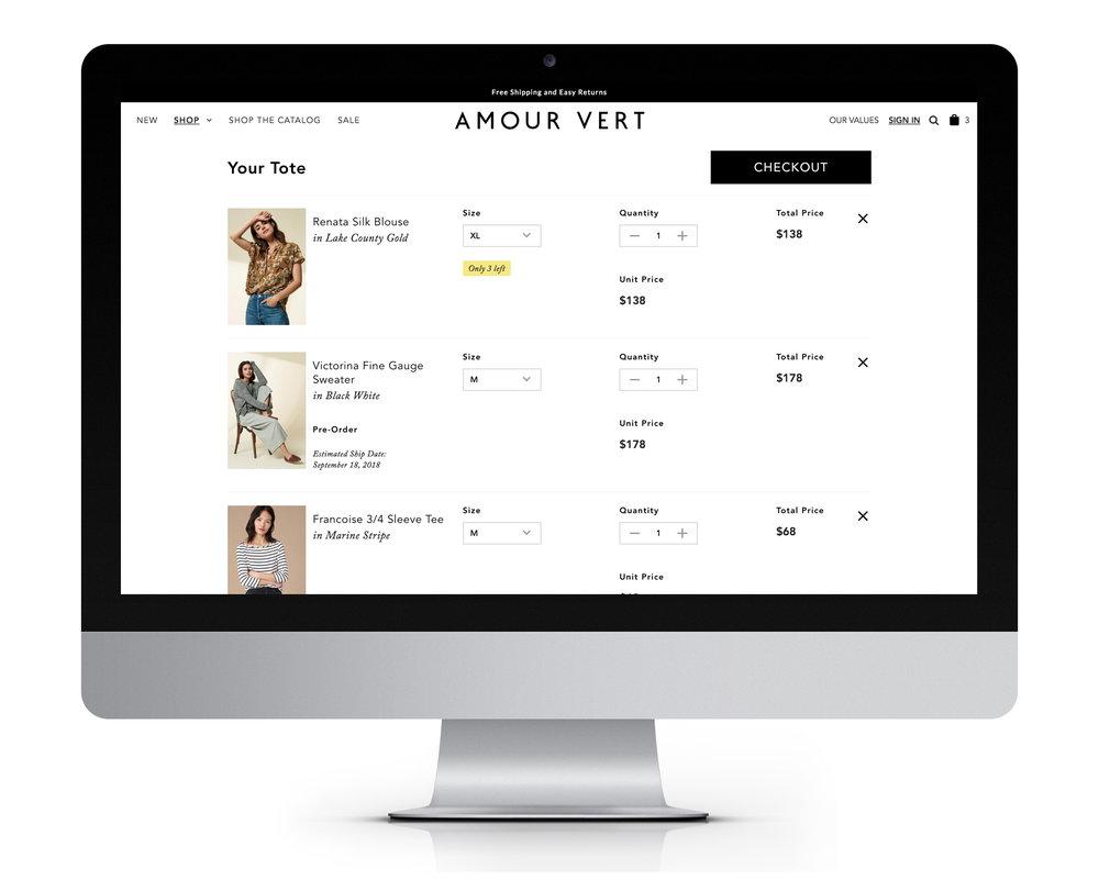 Cart - Desktop