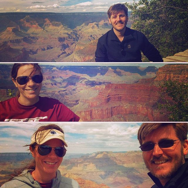 Smiley faces at the Grand Canyon!