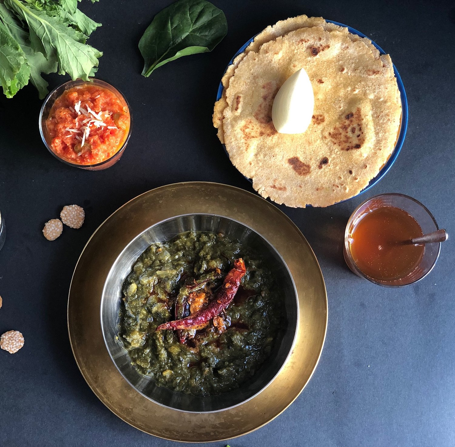 Image result for saag makki di roti