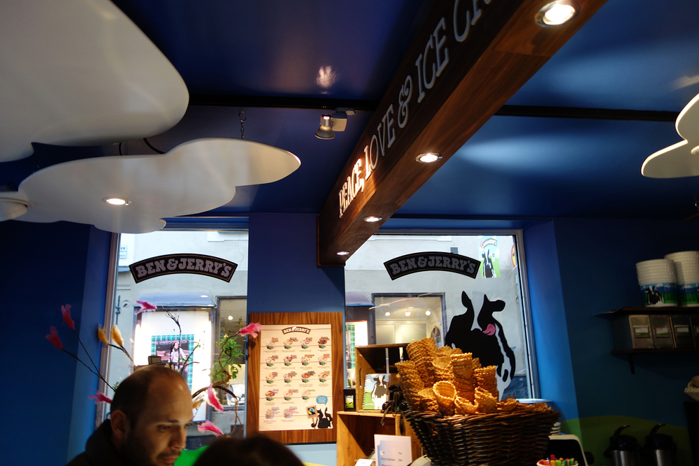 Fav part 2: a Ben Jerry's ice-cream bar in Gamla Stan and it's cheaper than US according to Tais.