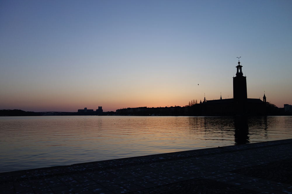 Pink sunset on Riddarholmen. The most beautiful stuff in the world is free.
