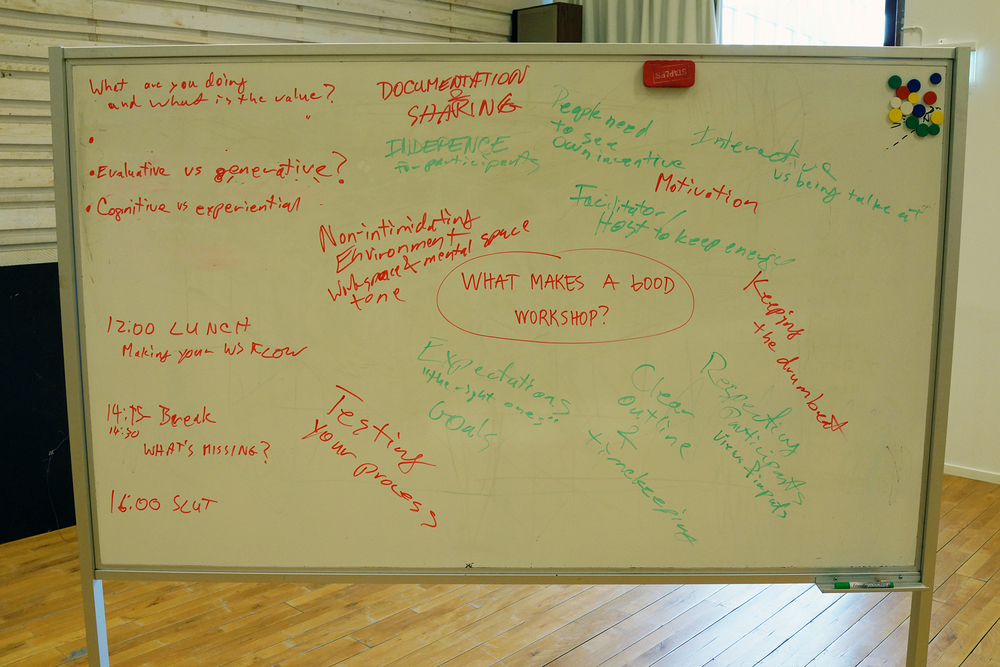 What makes a good workshop?