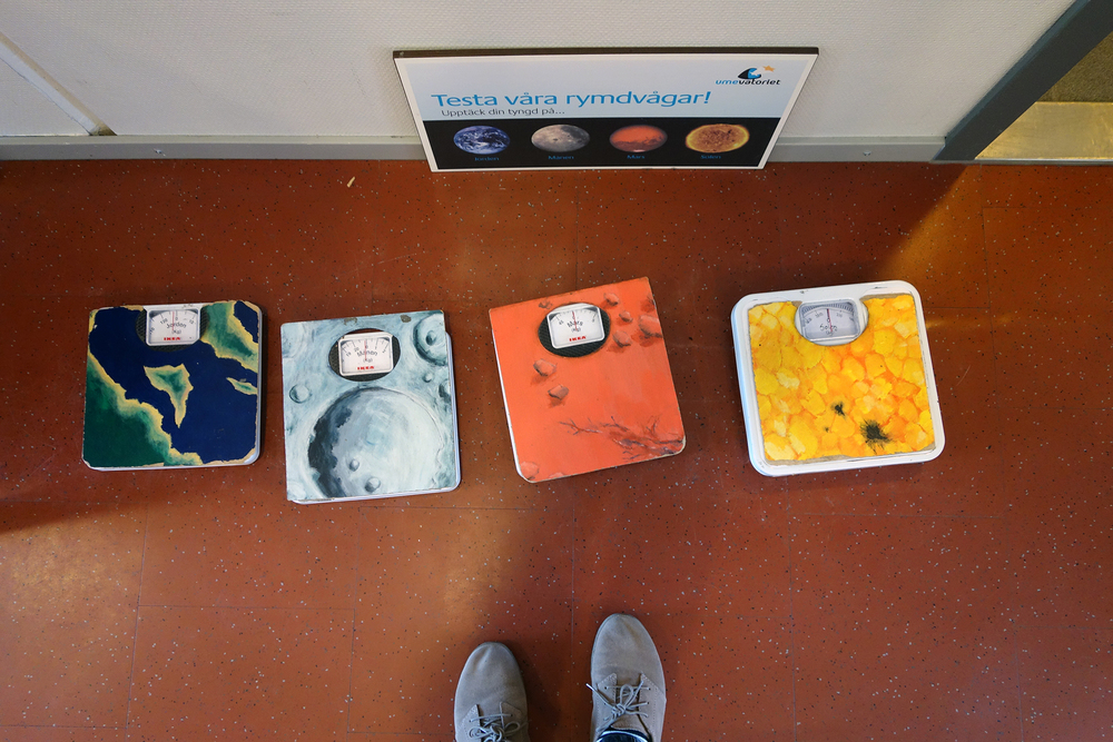 How much do you weight on Earth, Moon, Mars and Sun?