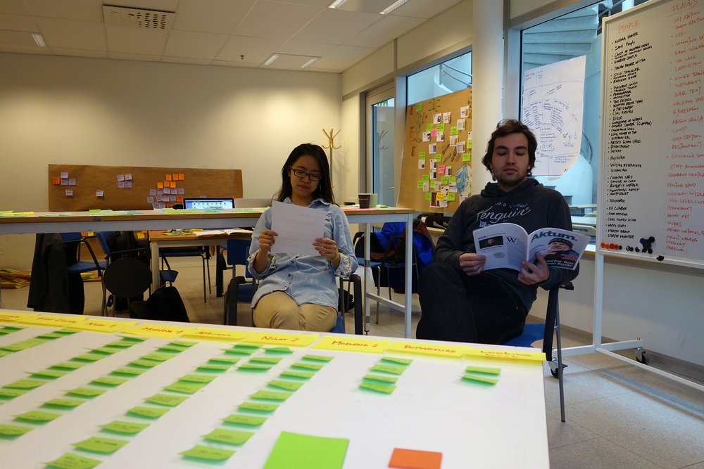 Role play of the user's journey map
