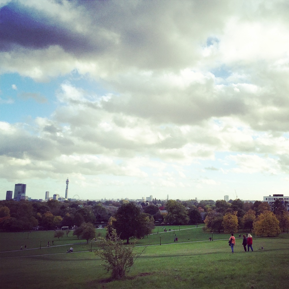 Posh people area - Primrose Hill with great skyline. I feel like I don't need to be on the spot for London Eye anymore for instance.