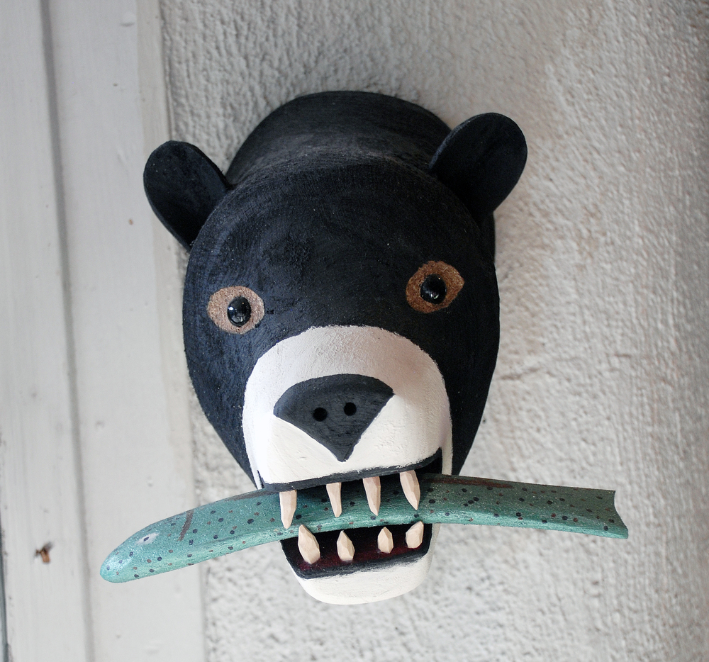 Bear head with fish in window.jpg
