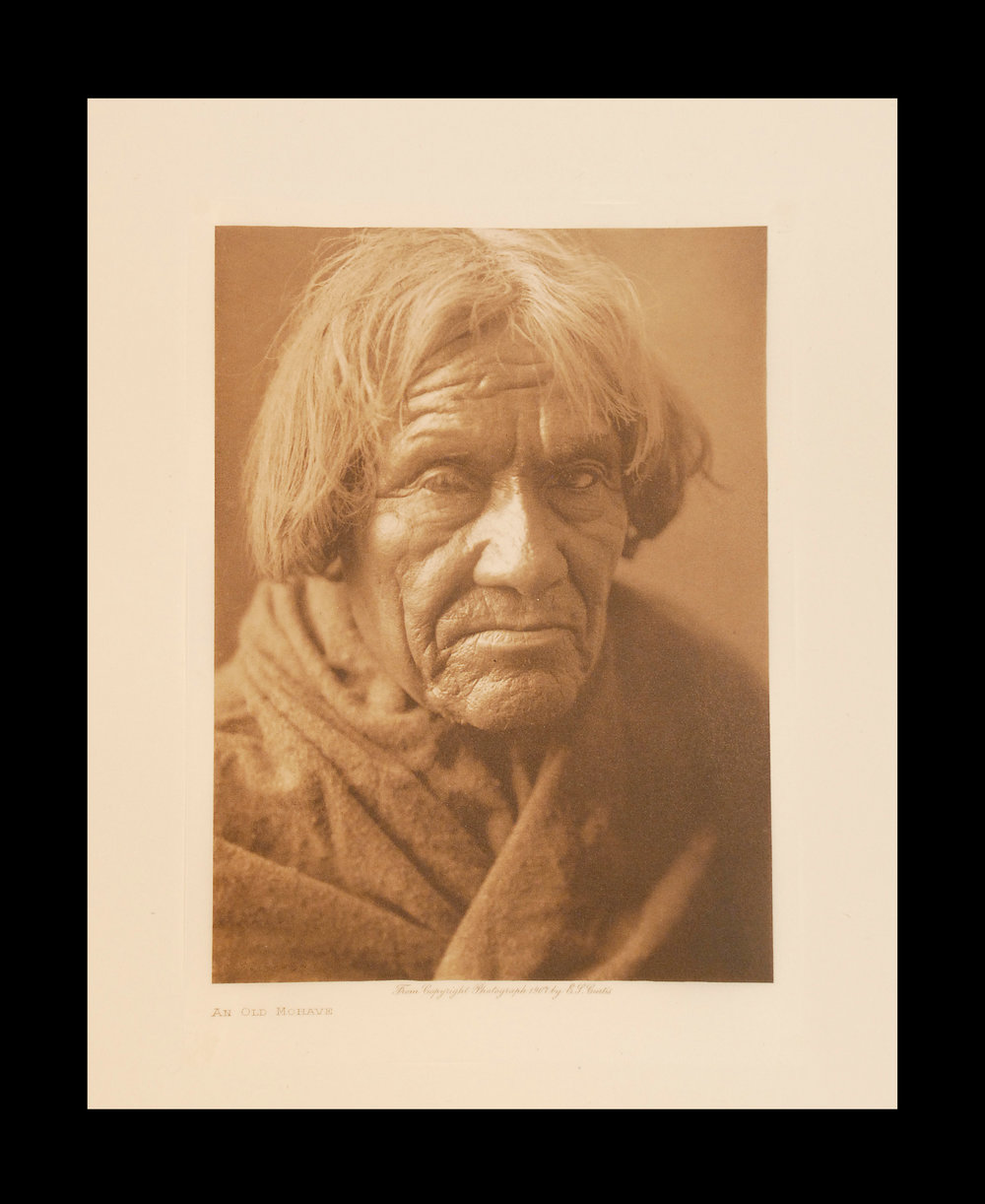 """An Old Mohave""  1907  Vol.2                        Tissue Print,  Vintage Photogravure"