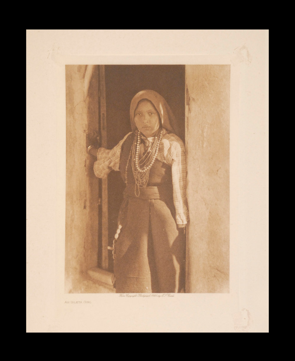 """An Isleta Girl""  1925  Vol.6  Tissue Print    Vintage Photogravure"