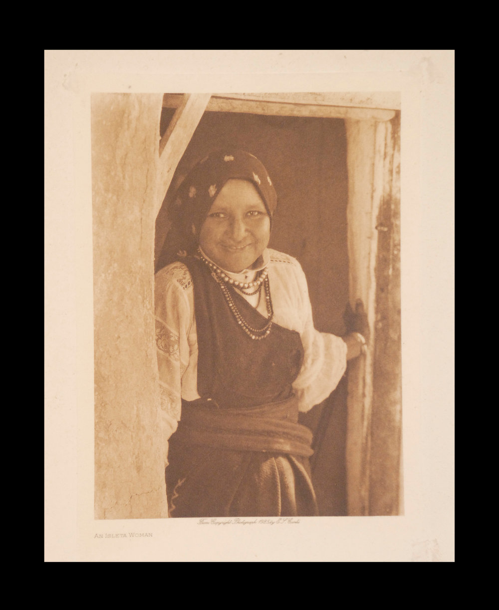 """An Isleta Woman"" 1925 Vol.16 Tissue Print, Vintage Photogravure"