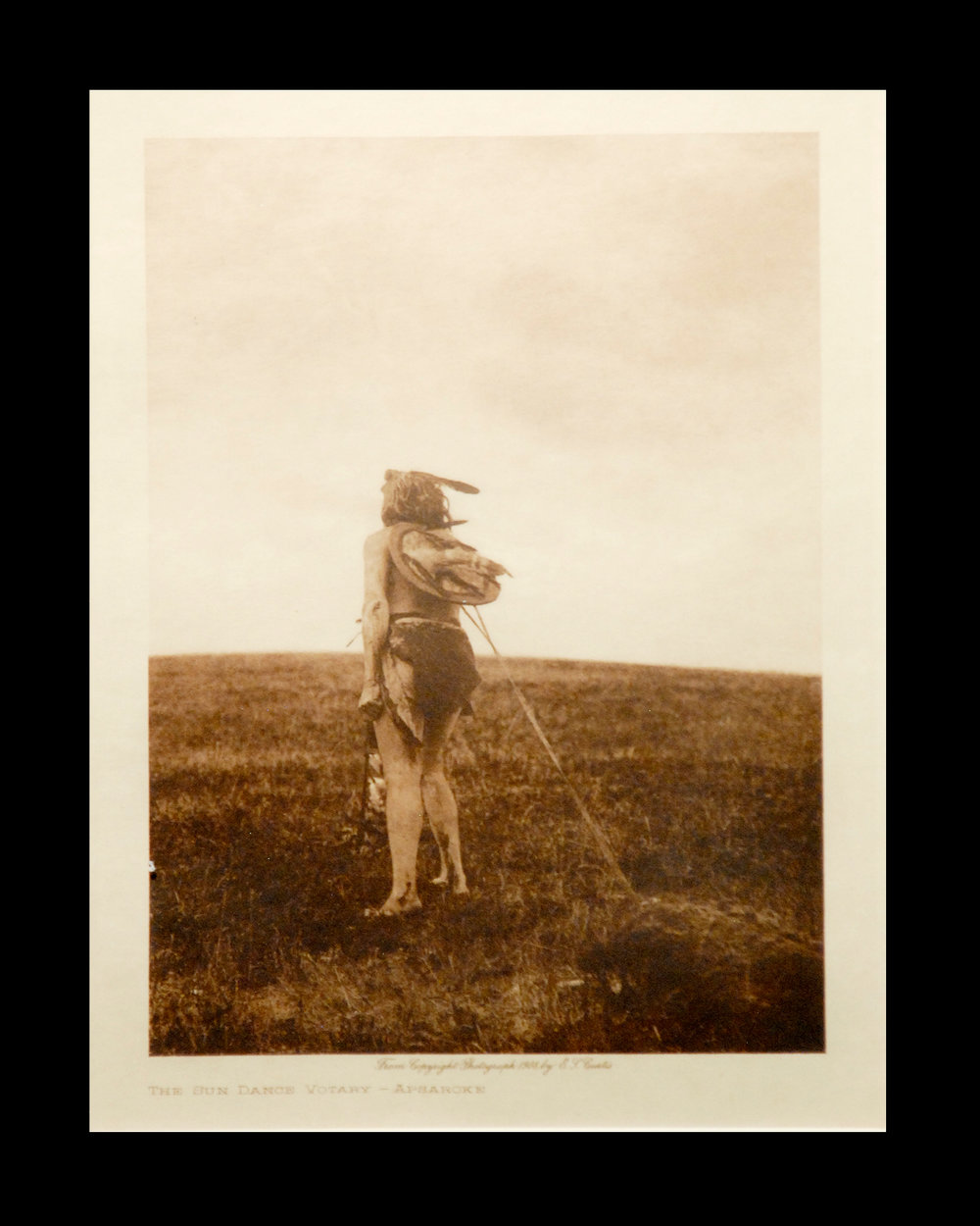 """Sundance Victory - Apasaroke"" Vol. 4 1908 Vellum Print Vintage Photogravure"