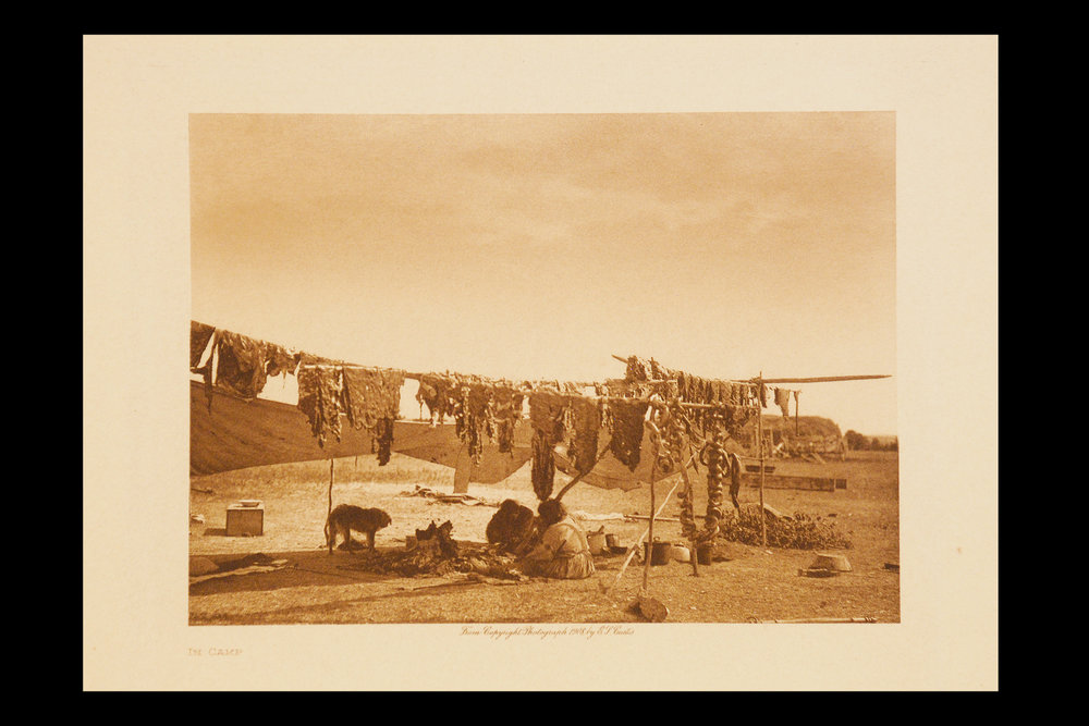 """In Camp""  1908  Vol.3  Vellum Print                Vintage Photogravure"