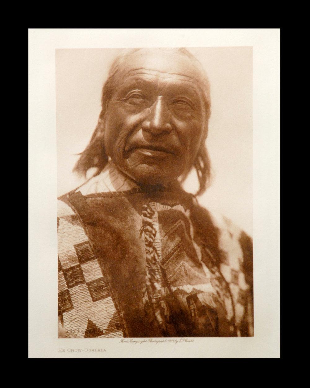 """""""He Crow - Ogalala"""" Vol.13 1907         Van Gelder Print,Vintage Photogravure"""