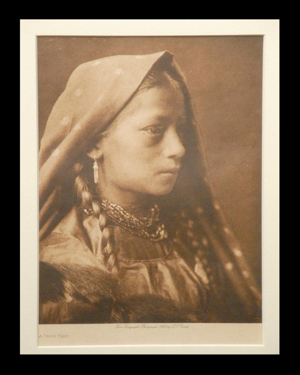 """A Taos Maid"" Vol.16 1925 Vellum Print      Vintage Photogravure"