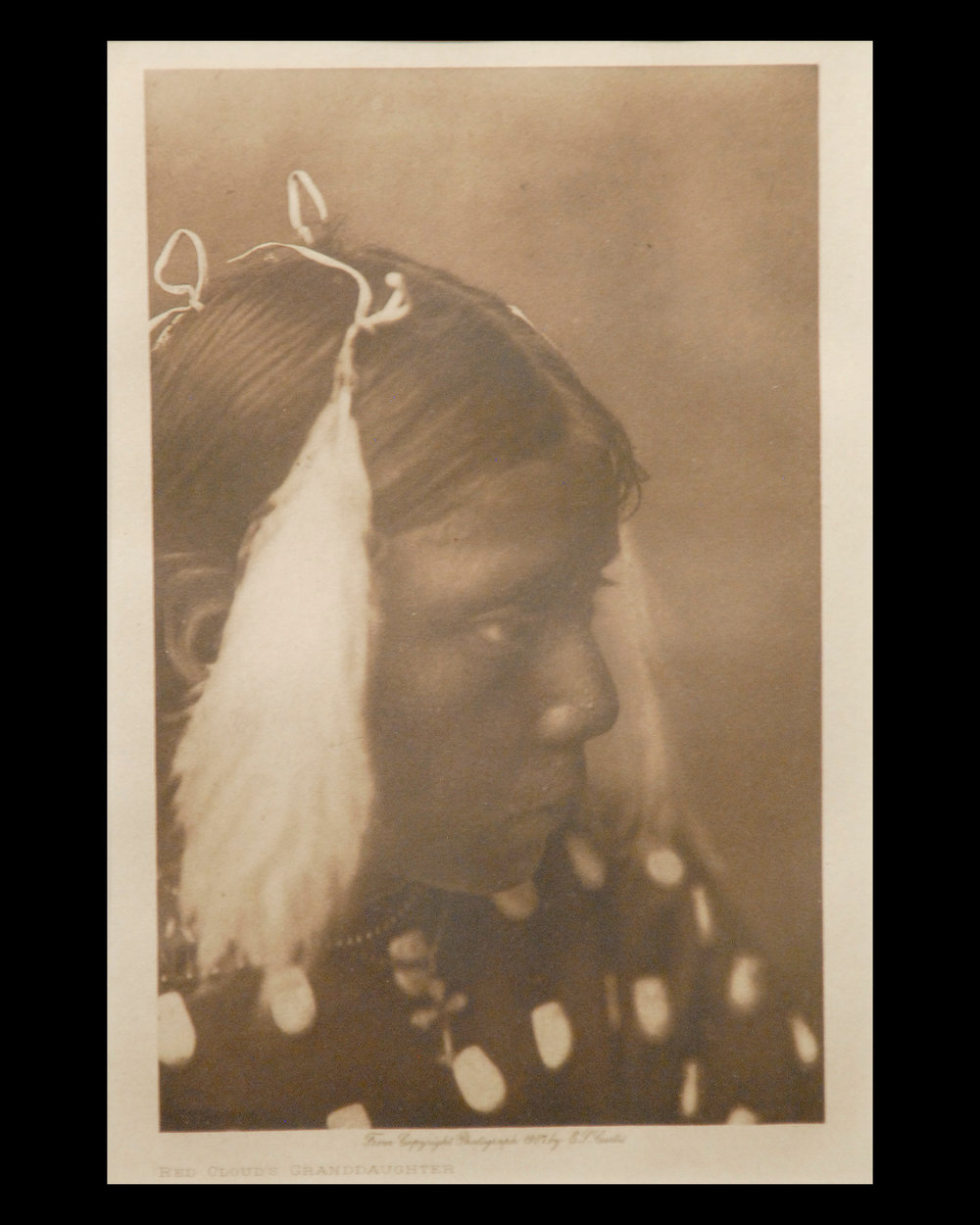 """RedCloud's Granddaughter"" 1907 Vol.3 Van Gelder Print, Vintage Photogravure"