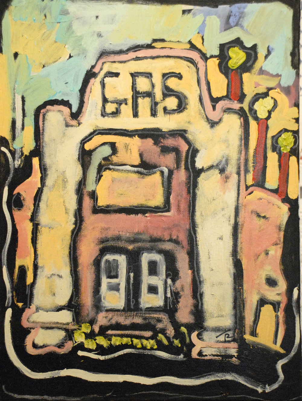 """Last Gas Station on Route 66""  24X18  $1200"