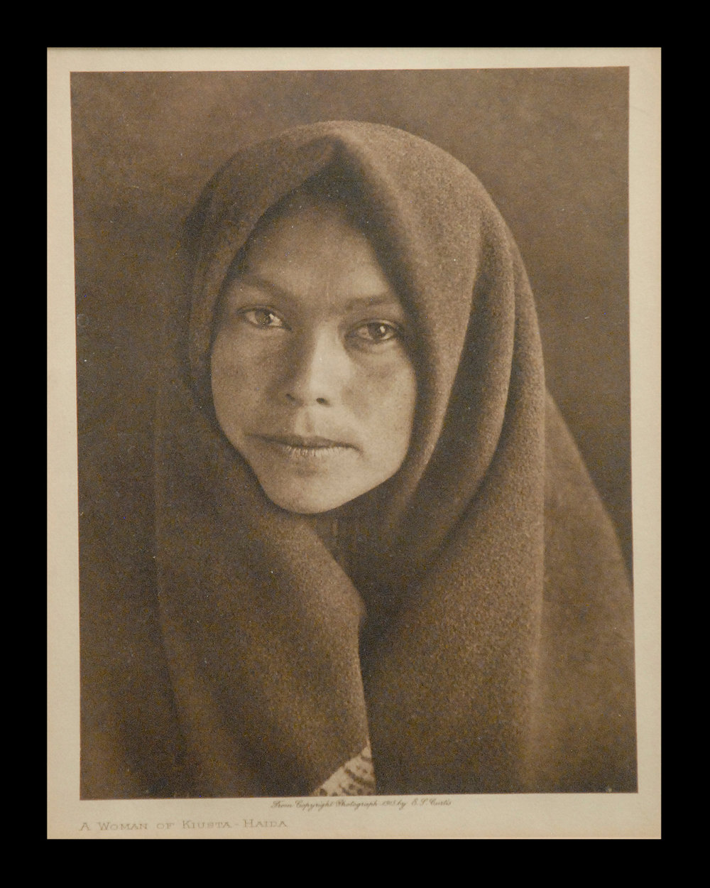 """A Woman of Kiusta-Haida"" 1915 Vol.11    Van Gelder Print,  Vintage Photogravure"