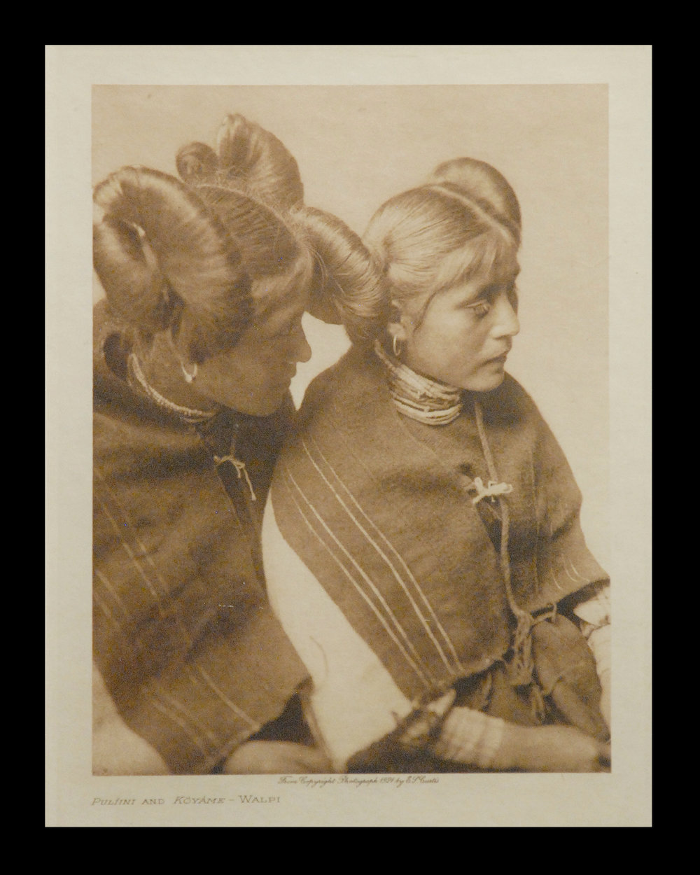 """Pulfini and Koyame - Walpi"" 1924 Vol.12     Vellum Print,Vintage Photogravure"