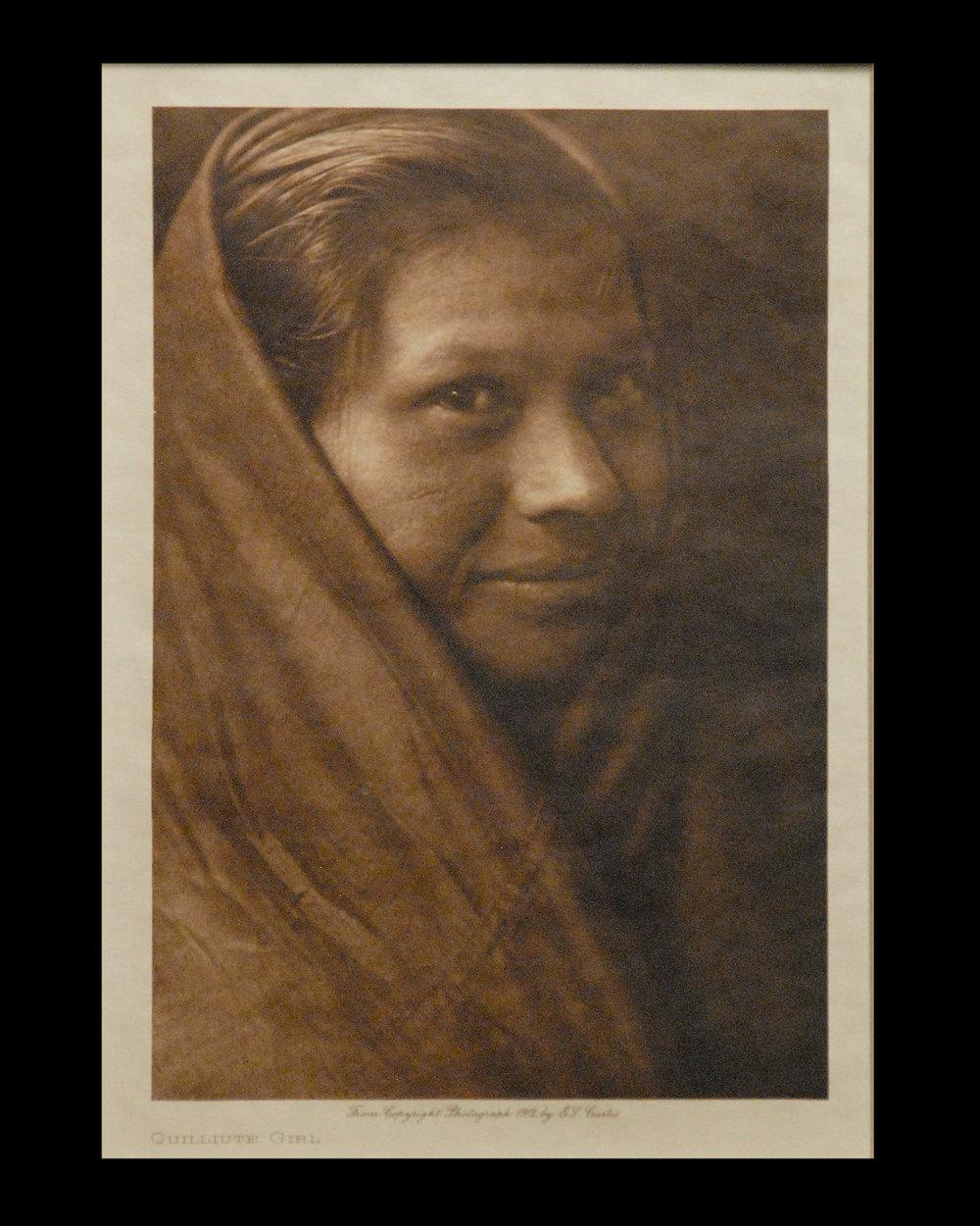 """""""Quilliute Girl"""" 1912 Vol.9 Van Gelder Print,  Vintage Photogravure"""