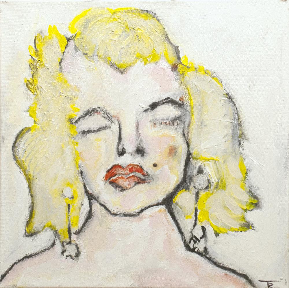 """Marilyn Monroe #1""  16x16  $1400"