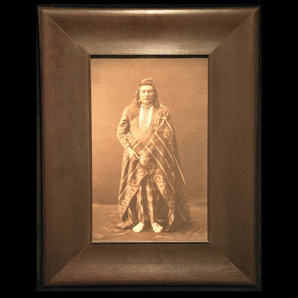 """Nez Perce Man"" Platinum Print"