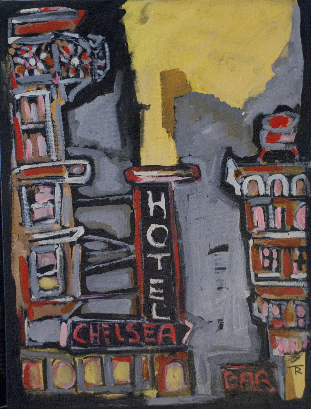 """""""Chelsea"""" From the Record """"Folk Hotel""""  24x18  $1200"""