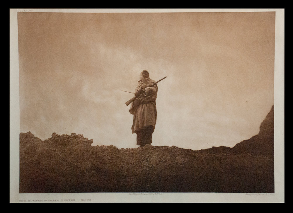 "Plate #110 ""The Mountain-Sheep Huntor - Sioux"" 1904 Portfolio 3"