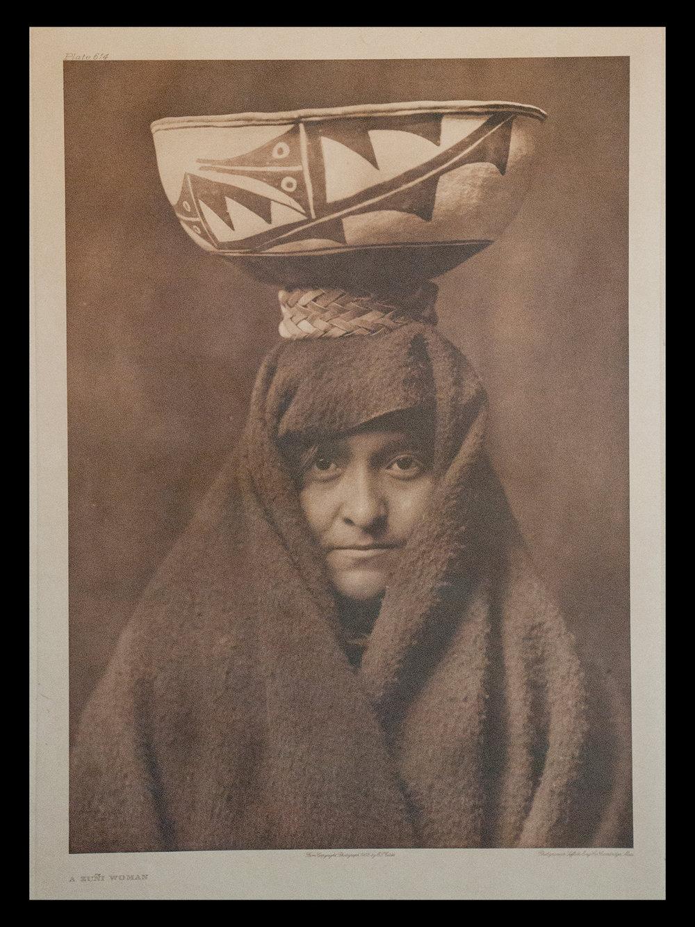 """Plate #614 """"A Zuni Woman"""" 1903                                                              Portfolio 17"""