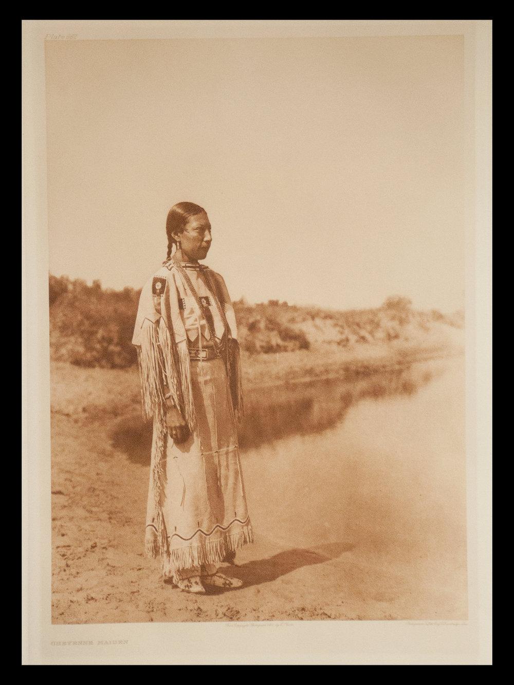"""Plate #667 """"Cheyenne Maiden"""" 1927 Portfolio 19"""