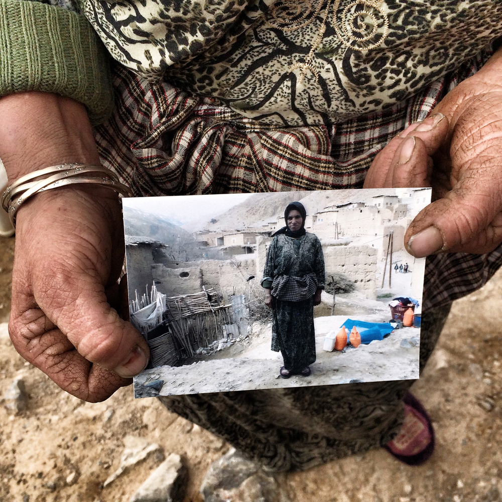 #1 - A villager in Oulad Ali poses with her photo taken by a student in the Prints for Prints/Peace Corps workshop.