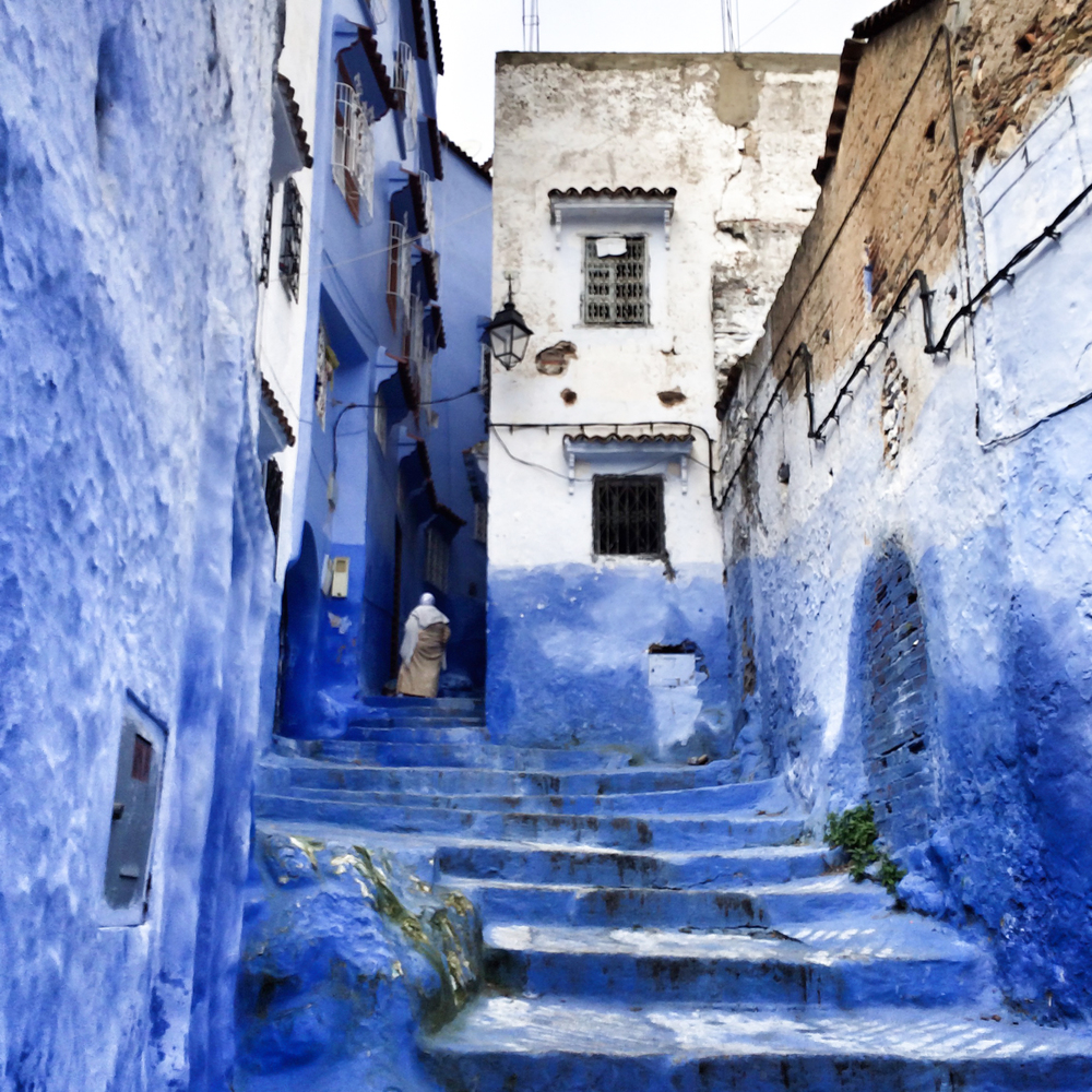 #9  - One of the many alleys of the beautiful blue city of Chefchaouen.