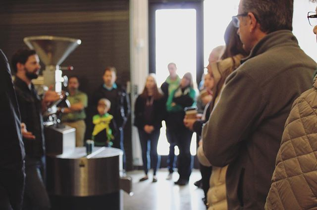 We loved showing guests around our new space this past weekend. Comment below if you'd be interested in a coffee tasting with our head roaster, Nick, and we'll work to get it on the calendar.  #hardycoffeeco #omaha #specialtycoffee #coffeeroaster 📷:@gabe_luse