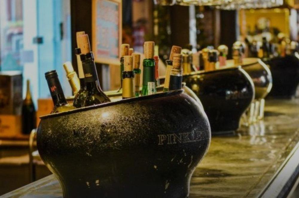Wine tasting aboard -