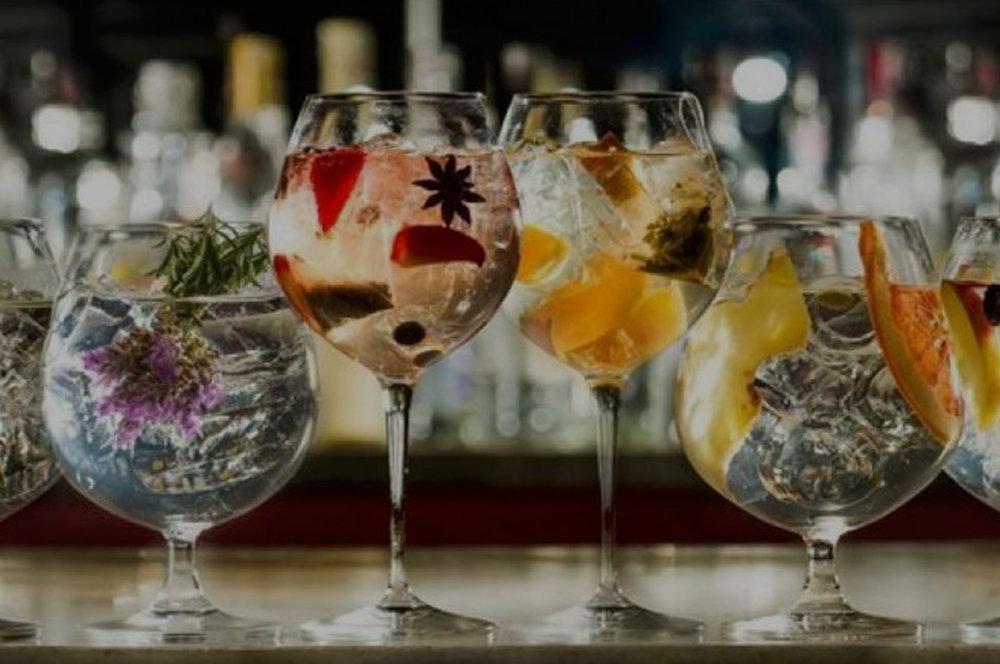 Gin Show aboard -