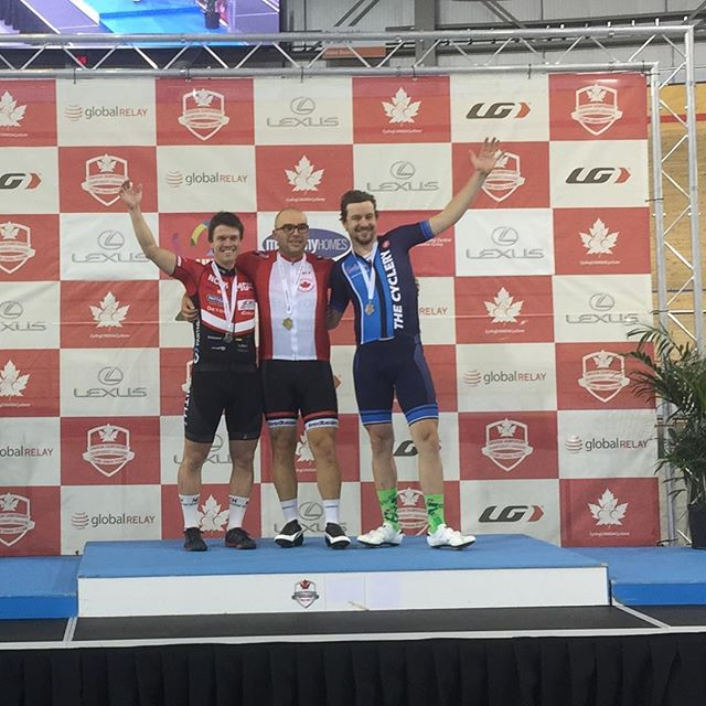Proud to have won the National Master A point race @cyclingcanadaofficial championships. Even better to have won it against two friends @chrisgotdropped  @natbikes that I have raced with for 20 years. #LTAD #fitforlife #lastgen @teamkallistofcv @mattamyvelo