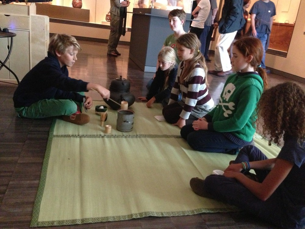 Enacting the Tea Ceremony at the Asian Art Museum.