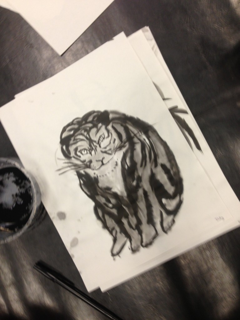 Brush Painting, Tigers at  the Asian Art Museum.