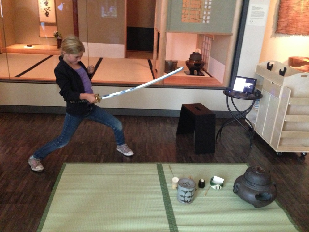 Holding a Japanese Sword, Camp Japan goes to the Asian Art Museum.