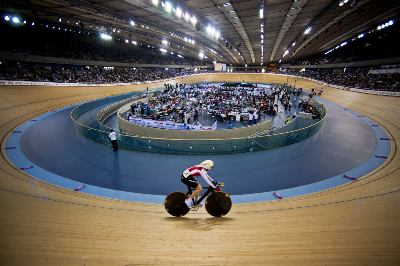 The Olympic velodrome, shot for the Hopkins Architects Partnership