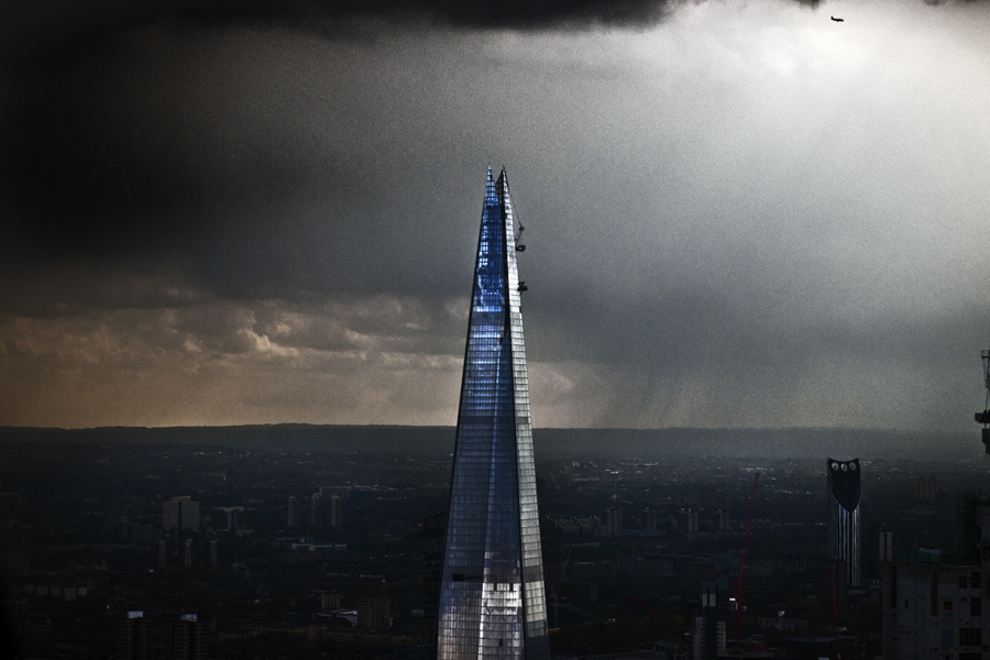 More in the 'Iconic' series of London… The Shard in a rainstorm