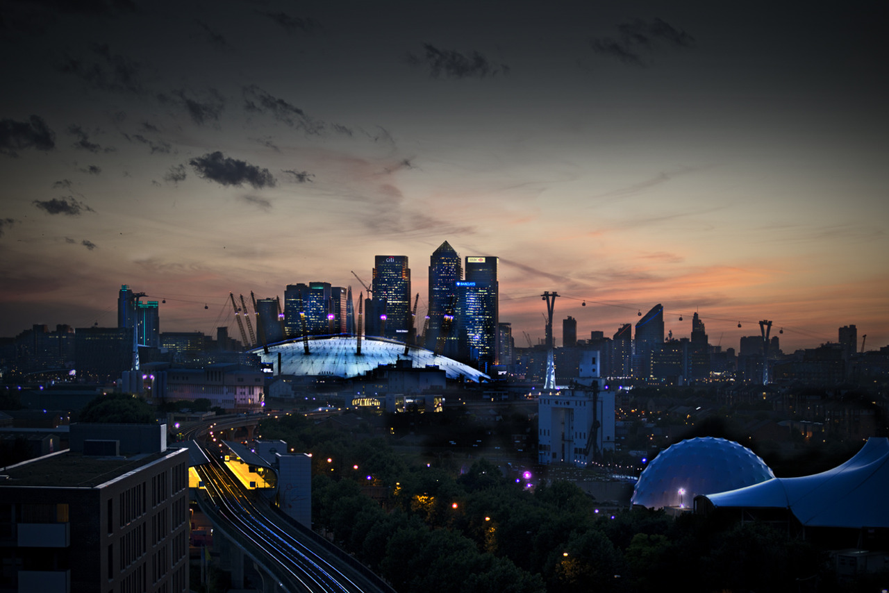 London from E16 last night…I'm stalking new locations for my favourite client