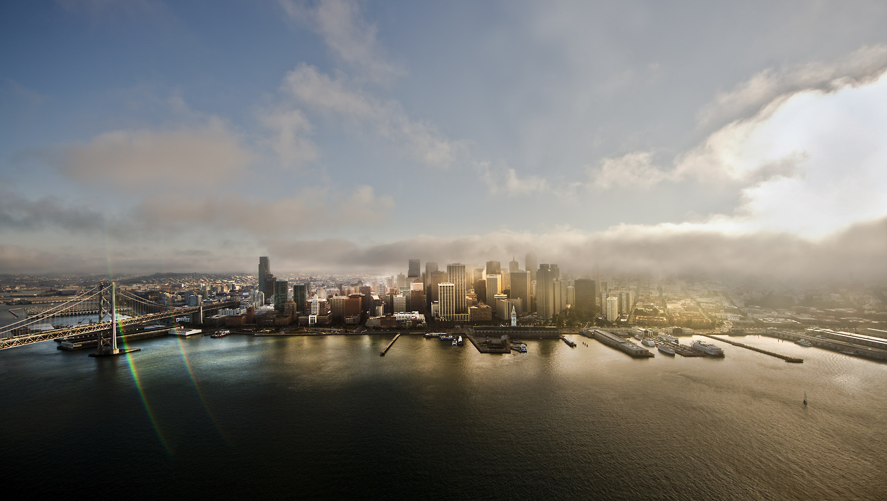 One that did not run, but was my favourite  …San Francisco, with the fog rolling in