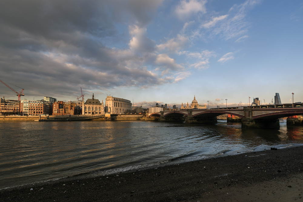 The River Thames in winter light