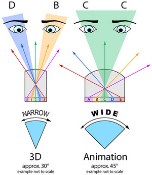 Narrow and Wide viewing angles