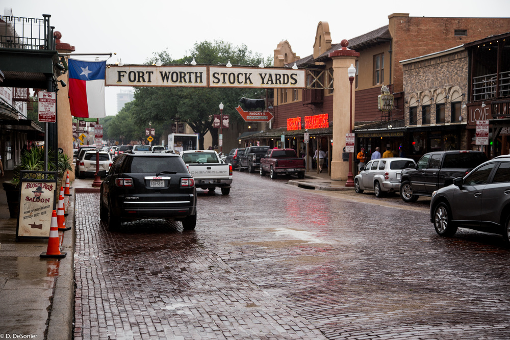 Historic Ft Worth stock yards.