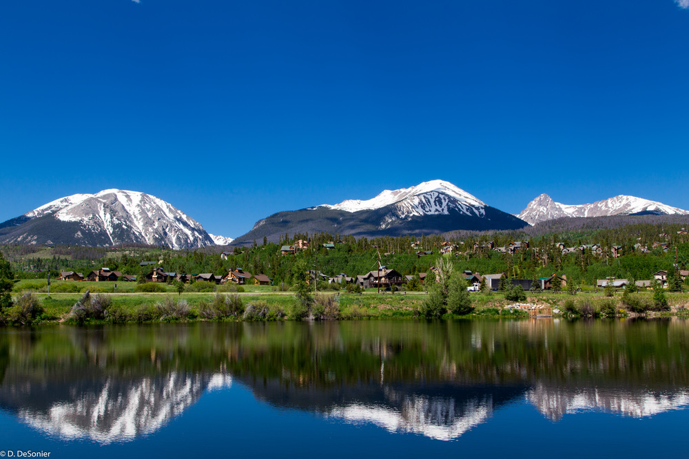 Left to right: Buffalo Mtn (12,777'), Red Peak (13,189'), Mt Silverthorne (13,357'). Photo by Roanne.